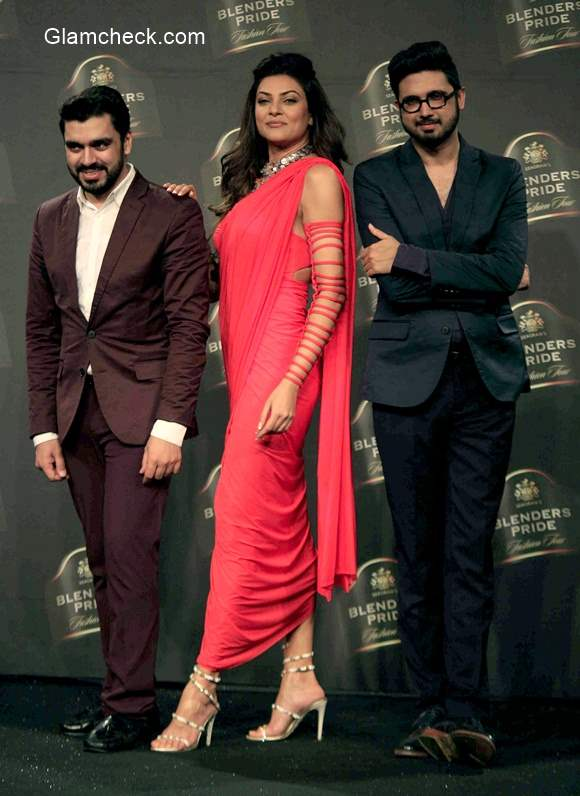 Sushmita Sen as showstopper for Shiven and Naresh during Blenders Pride Fashion Tour 2014