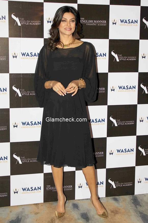 Sushmita Sen at the launch of the English Manner Finishing and Style Academy