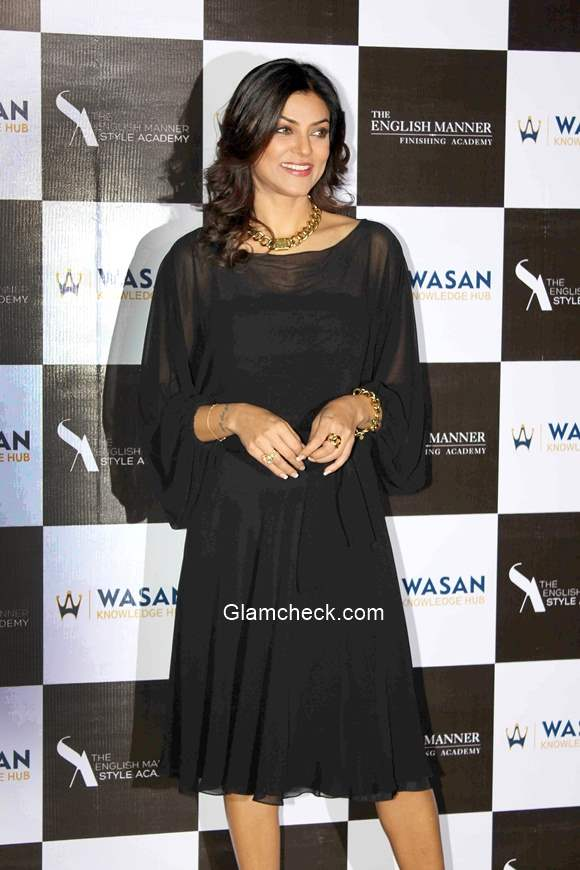 Sushmita Sen in Black Dress