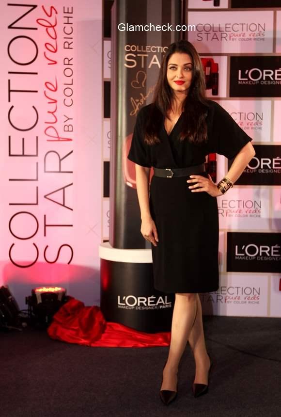 Aishwarya Rai Bachchan Launches Moist Matte Collection Pure Reds lipsticks by LOreal Paris