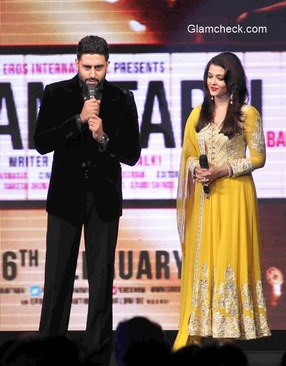 Aishwarya Rai and Abhisekh Bachchan at the Trailer launch of film Shamitabh