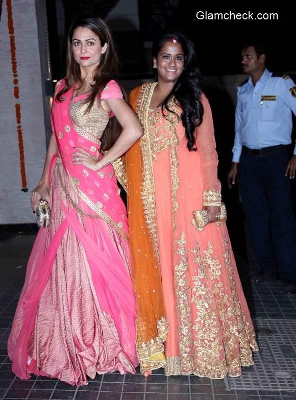 Amrita Arora and Arpita Khan at Soha Ali Khan Wedding Reception pics