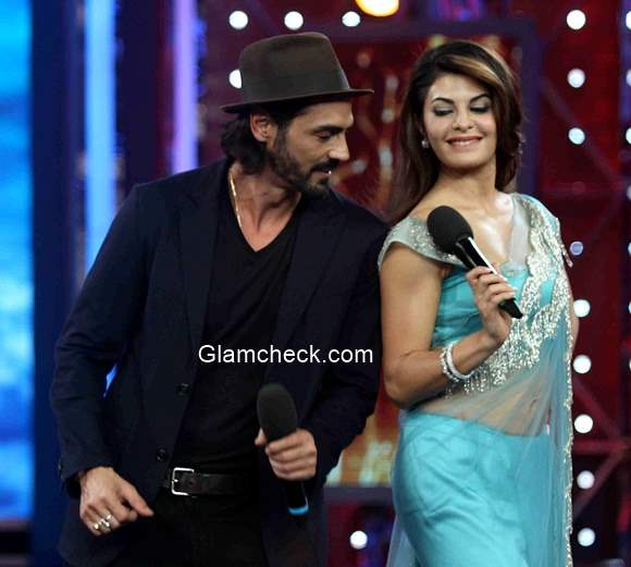 Arjun Rampal and Jacqueline Fernandez promote  film Roy on the sets Big Boss Season 8