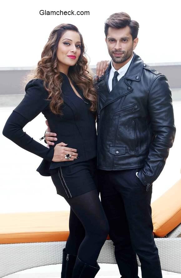 Bipasha Basu and Karan Singh Grover promotes Alone in New Delhi