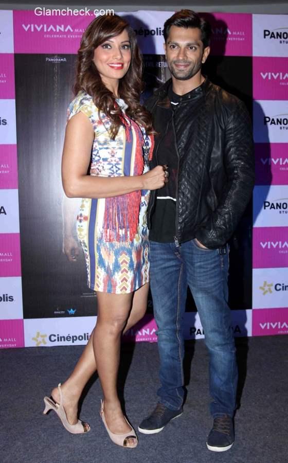 Bipasha Basu and Karan Singh Grover promotes Alone