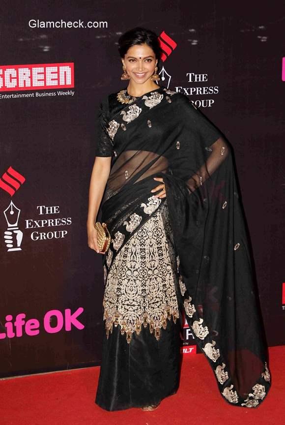Deepika Padukone goes desi for the 21st Annual Life OK Screen Awards