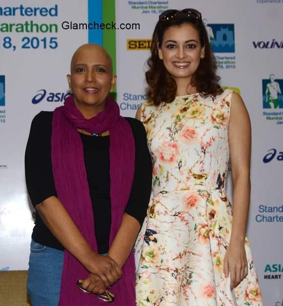 Dia Mirza lends support to Standard Charted Mumbai Marathon