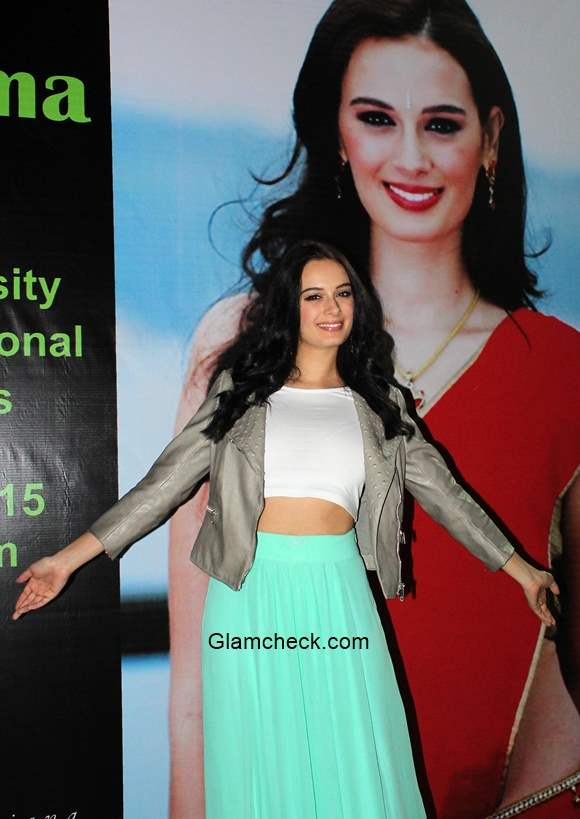 Evelyn Sharma at the quarter finals of the All India University Basketball tournament