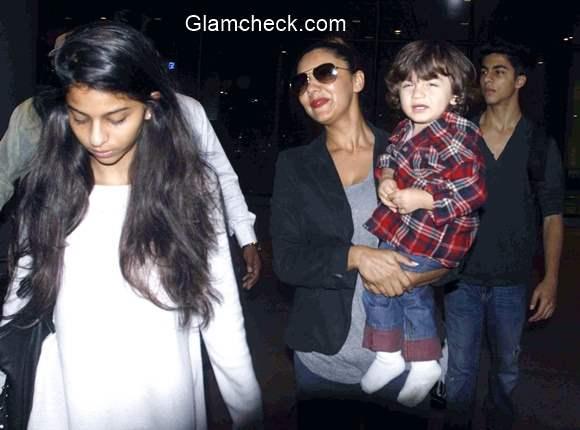 Gauri Khan daughter Suhana son Aryan and AbRam