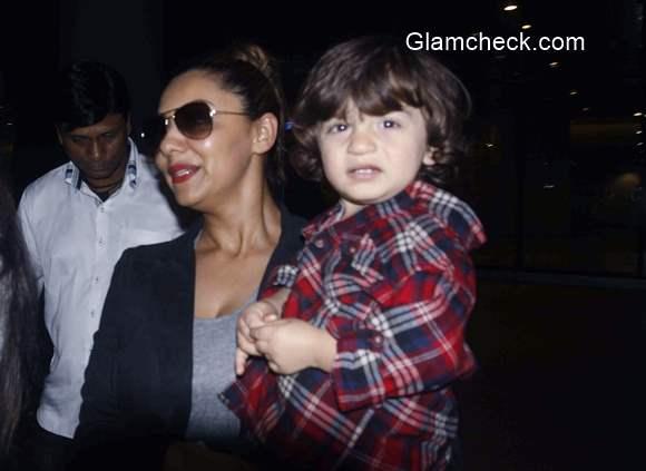 Gauri Khan with son AbRam