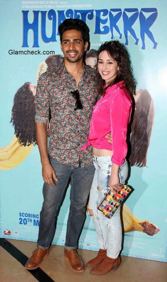 Gulshan Devaiya with his wife at the trailer launch of film Hunterrr