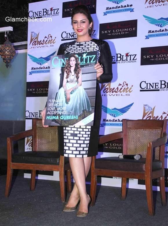 Huma Qureshi launches Cine Blitz magazine January 2015 issue