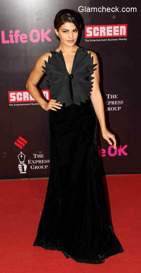Jacqueline Fernandez goes unconventional for the 21st Annual Life OK Screen Awards