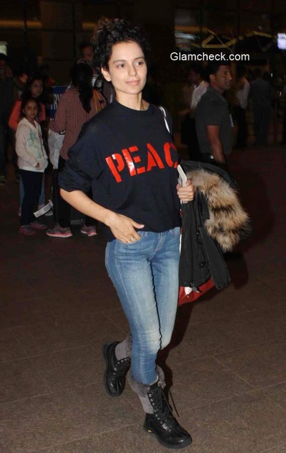 Kangana Ranaut spotted in a de-glam look