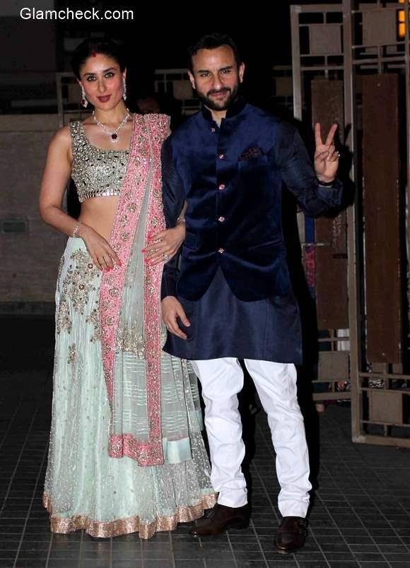 Kareena Kapoor and Saif Ali Khan at Soha Ali Khan and Kunal Kemu Wedding Reception