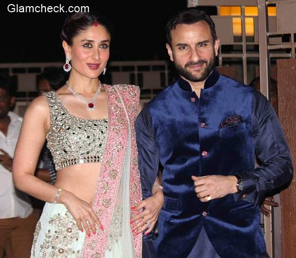 Kareena and Saif at Soha Ali Khan Wedding Reception