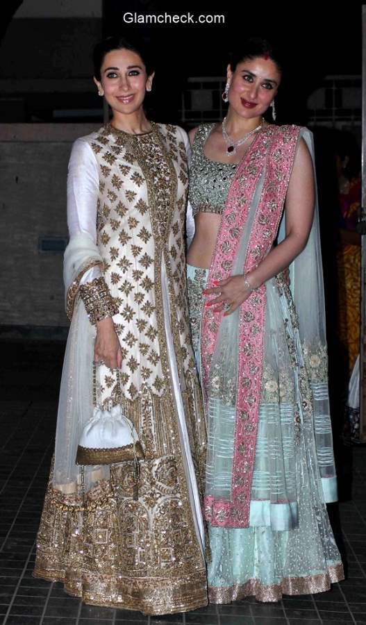 Karisma and Kareena at Soha Ali Khan Wedding Reception pics