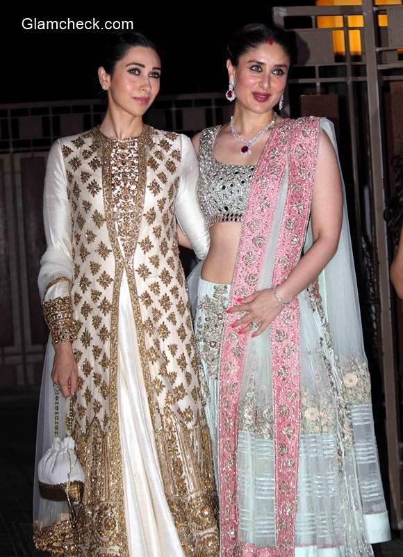 Karisma and Kareena at Soha Ali Khan Wedding Reception