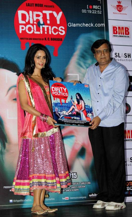 Mallika Sherawat and KC Bokadia launches the music of film Dirty Politics