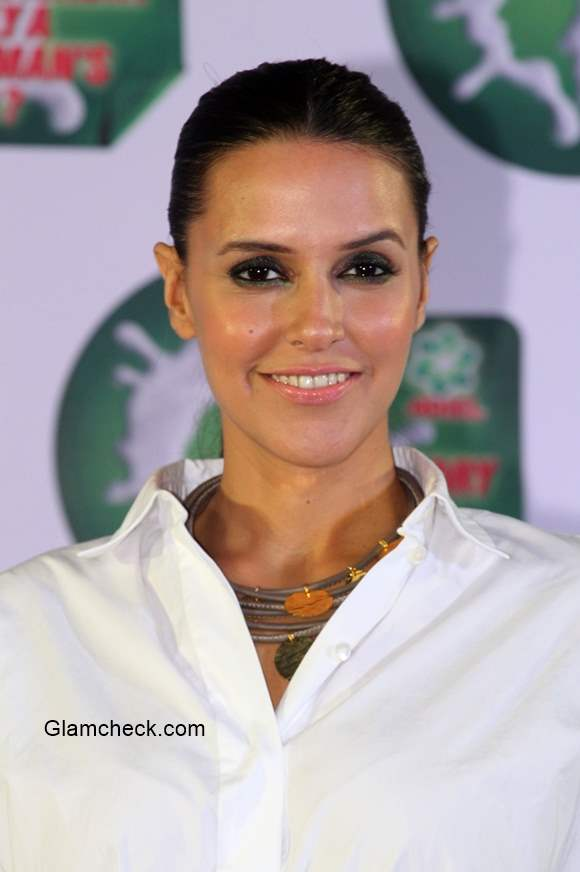 Neha Dhupia during a press conference by Ariel in Mumbai