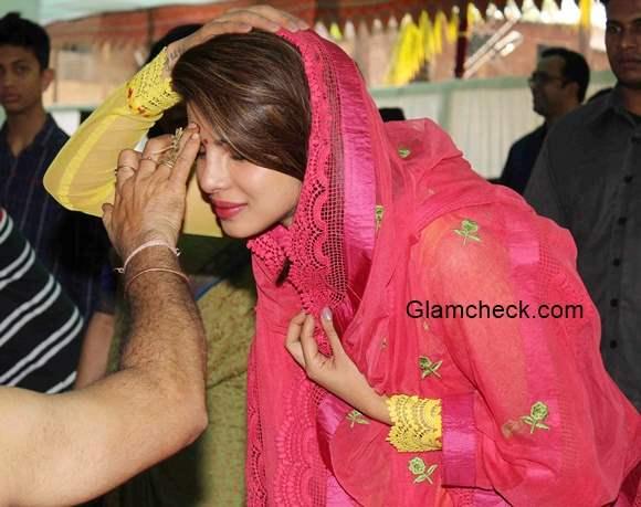 Priyanka Chopra at Maa Saraswati pooja hosted by Anurag Basu