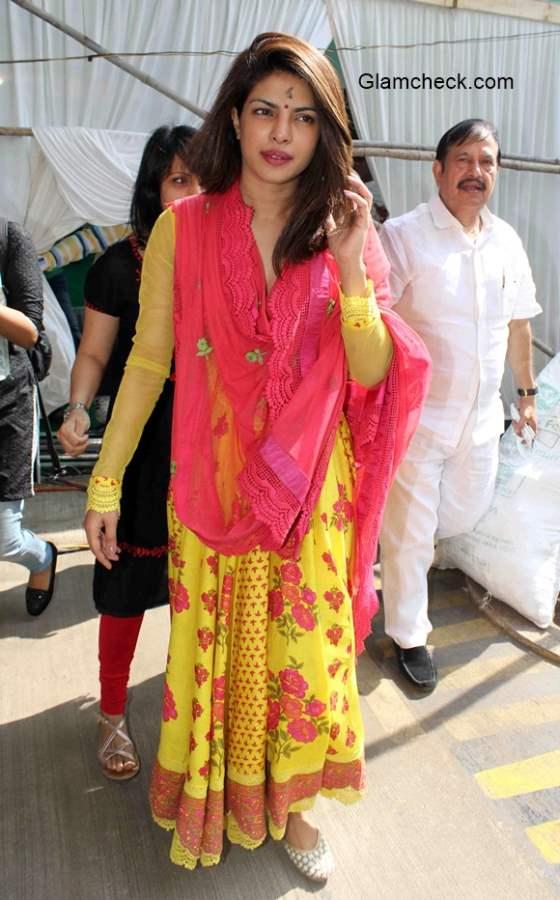Priyanka Chopra in Anarkali Suit 2015