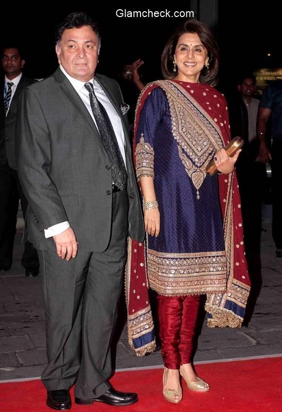 Rishi Kapoor with wife Neetu Singh 2015
