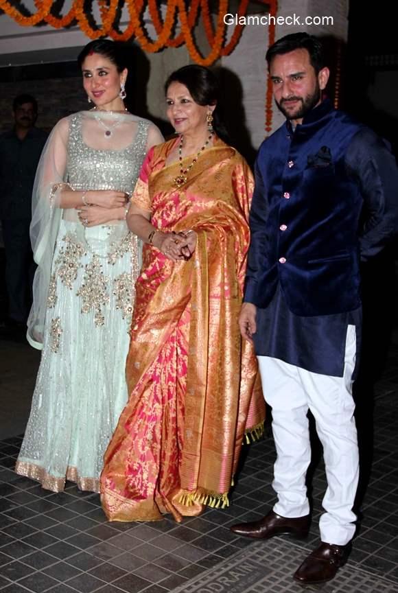 Sharmila Tagore At Soha Ali Khan And Kunal Kemu Wedding Reception