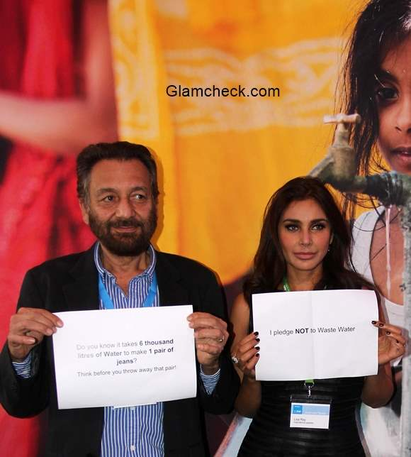 Shekar Kapoor and Lisa Ray raise awareness for water conservation during the Water summit