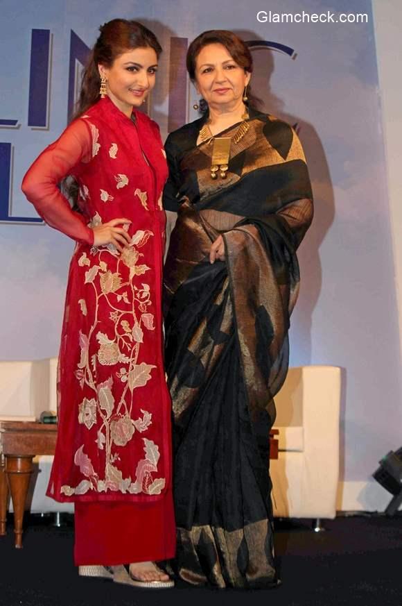 Soha Ali Khan and Sharmila Tagore 2015