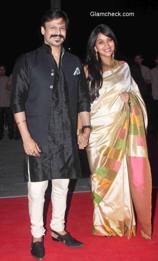 Vivek Oberoi with wife Priyanka Alva 2015