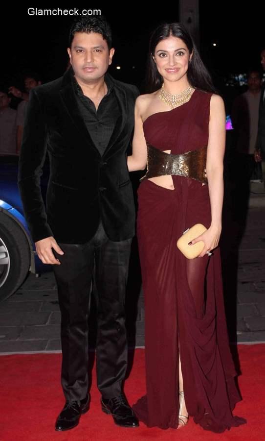 filmmaker Bhushan Kumar with wife Divya Khosla