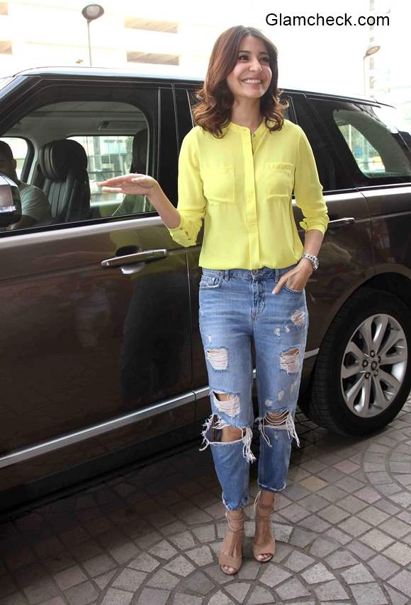 Anushka Sharma goes distressed during the trailer launch of NH10
