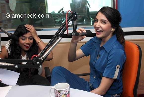 Anushka Sharma promotes film NH10 at Red FM studio