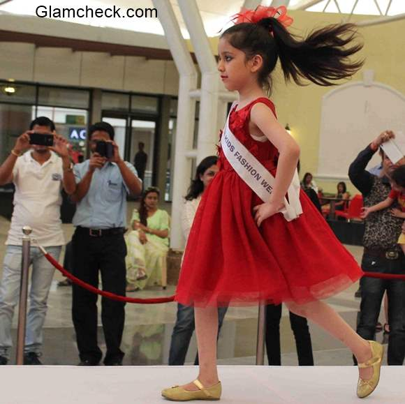 Auditions Kids audition for the India Kids Fashion Week 2015