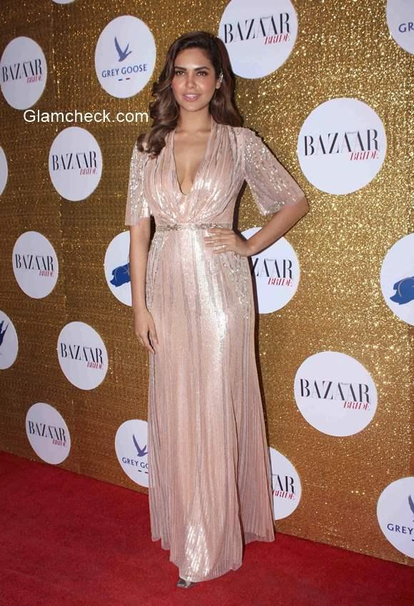 Esha Gupta at Harpers Bazaar Bride first anniversary party