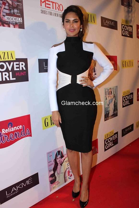 Esha Gupta in Shivan and Narresh during Grazia Cover Girl Hunt Finale
