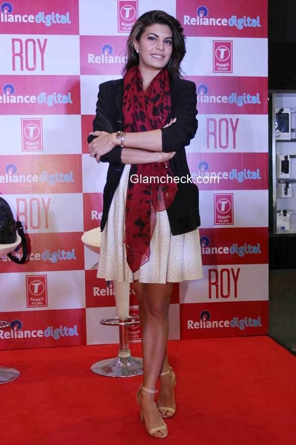 Jacqueline Fernandez promotes Roy at Reliance Digital Mumbai