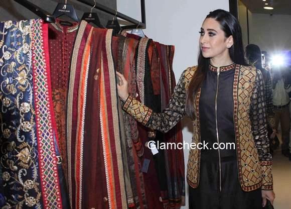 Karisma Kapoor 2015 at designer Anjali Jain's store launch