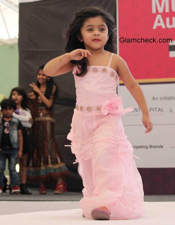 Kids audition for the India Kids Fashion Week 2015