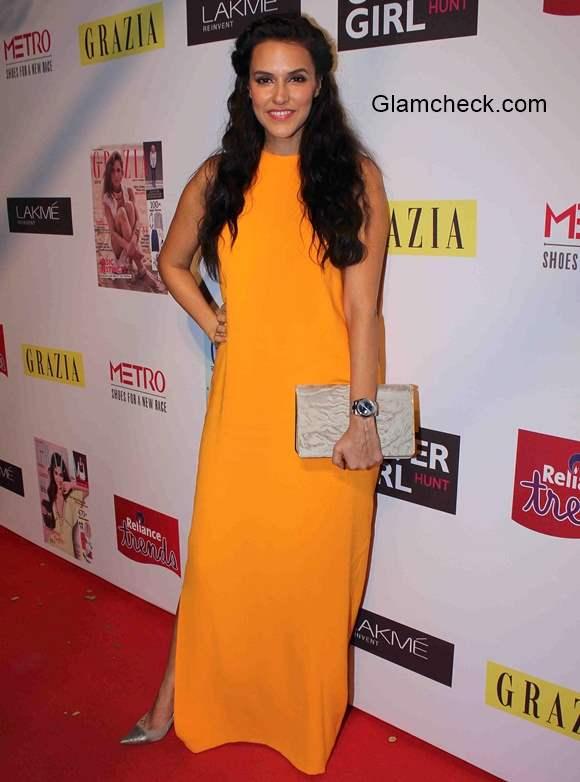 Neha Dhupia in Dior for the Grazia Cover Girl Hunt 2015