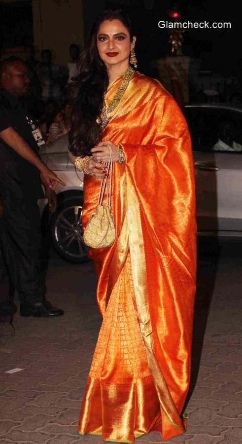 Rekha 2015 at 60th Filmfare Awards