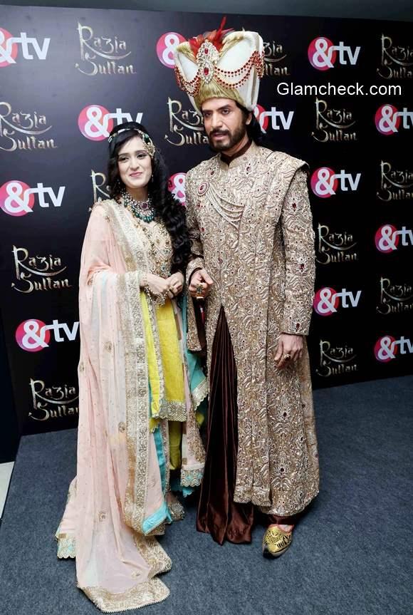 Sooraj Thapar and Pankhuri Awasthi launch new series Razia Sultan on Zee and TV