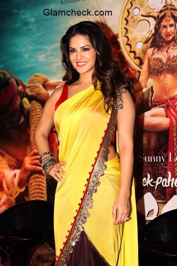 Sunny Leone in Saree at the trailer launch Ek Paheli Leela