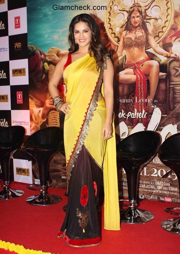 Sunny Leone in Saree at the trailer launch of Ek Paheli Leela