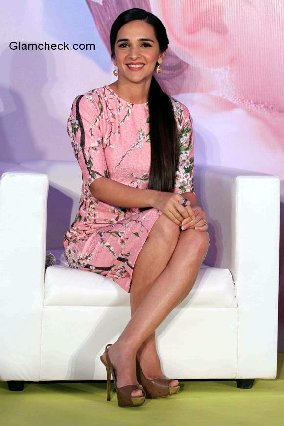 Tara Sharma during a press conference to announce the global campaign of Johnson and Johnson