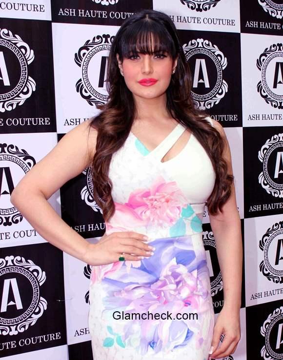 Zarine Khan Bangs Hairstyle  2015