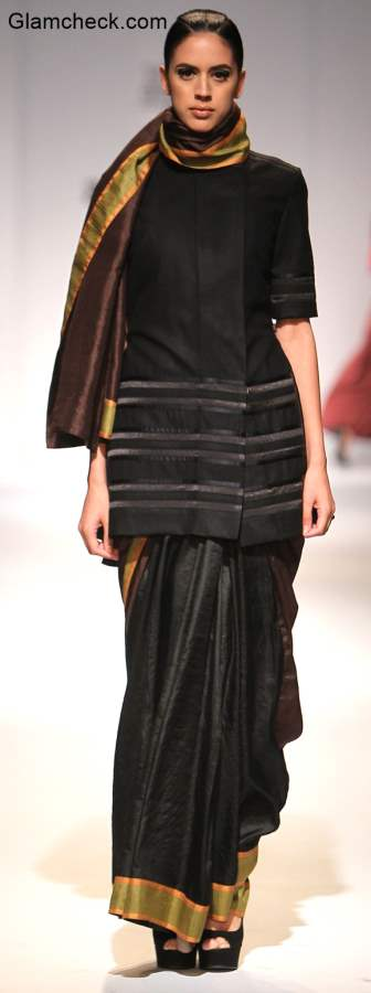 Amazon India Fashion Week 2015 Saree Drape Style inspiration – Amalraj Sengupta