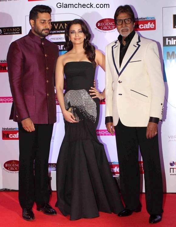 Bachchans at the Hindustan Times Mumbais most stylish awards 2015
