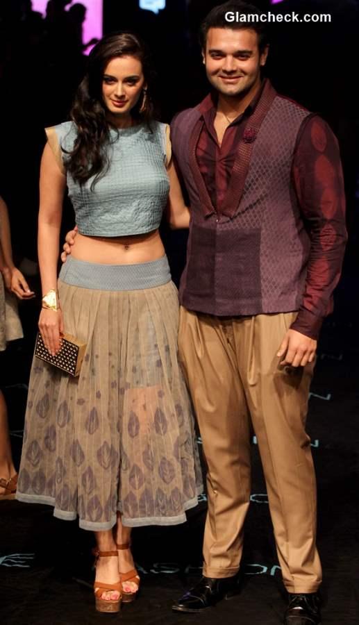 Evelyn Sharma and Mahaakshay Chakraborty for Kunal Anil Tanna at LFW Summer-Resort 2015